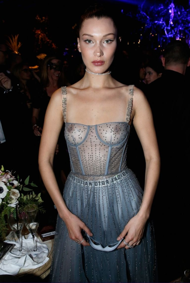She loves to bare all often wearing sheer outfits. Source: Getty