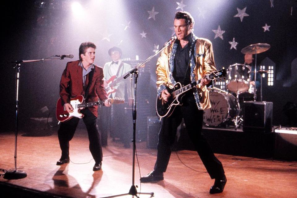 """<p>Named for Elvis's 1956 hit, this <a rel=""""nofollow"""" href=""""https://www.yahoo.com/movies/tagged/chris-columbus"""" data-ylk=""""slk:Chris Columbus"""" class=""""link rapid-noclick-resp"""">Chris Columbus</a>-directed comedy found character actor David Keith (not to be confused with character actor Keith David) in a rare leading role as it imagined the icon's kidnapping at the hands of a teen boy (Charlie Schlatter, left) desperate for a new stepdad (and bandmate). —<em>Kevin Polowy </em>(Photo: Everett Collection) </p>"""