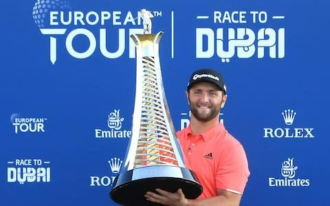 <span>Jon Rahm pocketed himself $5 million on Sunday having won the DP World Tour Championship</span> <span>Credit: GETTY IMAGES </span>