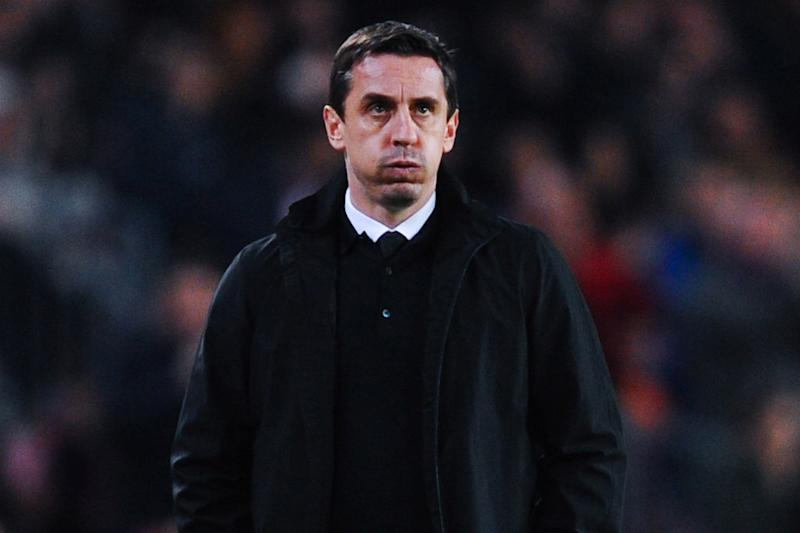 Frustrated: Gary Neville: (David Ramos/Getty Images)