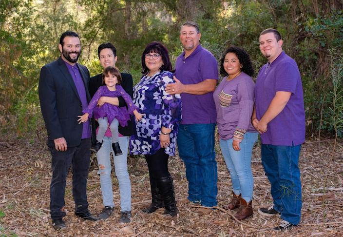 Kimberley Chavez Lopez Byrd with her family. Kimberley Byrd was an adored educator in Hayden-Winkelman, Arizona.