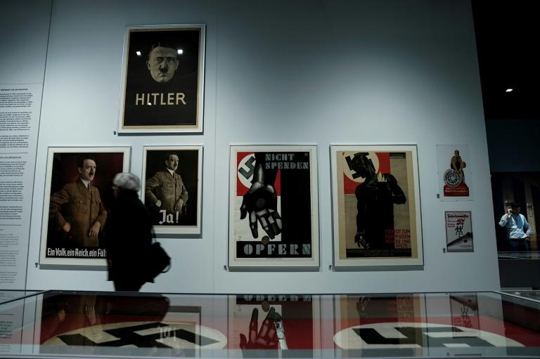 The opening of the Nazi design exhibition prompted protests from left-wing and anti-fascist groups who said they feared it could serve as a Nazi shrine (AFP Photo/Kenzo TRIBOUILLARD)