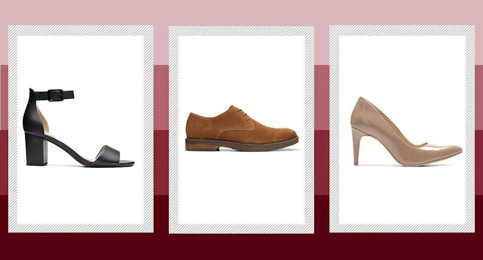 Clarks has launched a huge sale with up to 50% off mens and women's shoes.  (Clarks)
