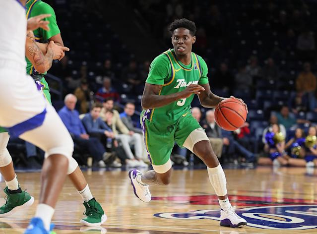 Tulane Green Wave guard Teshaun Hightower is one of six men charged with murder by the Henry County Police Department. (David Stacy/Icon Sportswire via Getty Images)