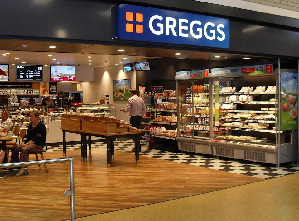 Undated handout photo issued by Greggs of one of their on the go stores, as falafel and hummus helped power sales at the bakery chain in the first half of the year, with the sausage roll-maker reaping the rewards of a wider range of healthy eating options.