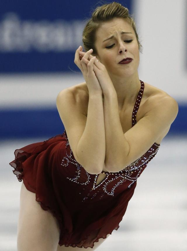 Wagner of the U.S. performs during the women's free programme at the ISU Grand Prix of Figure Skating Final in Fukuoka