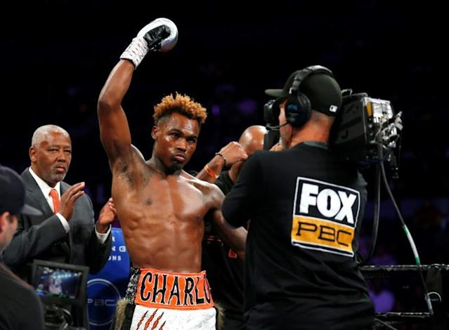 Jermell Charlo reclaimed the World Boxing Council super welterweight title by stopping champion Tony Harrison in the 11th round (AFP Photo/Steve Marcus)