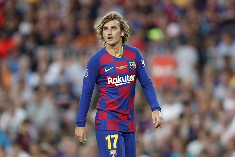 Antoine Griezmann of FC Barcelona during the Trofeu Joan Gamper match between FC Barcelona and Arsenal FC at the Camp Nou stadium on August 04, 2019 in Barcelona, Spain(Photo by VI Images via Getty Images)