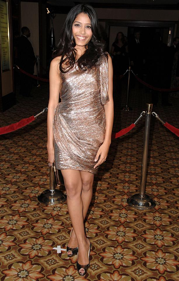 """<a href=""""http://movies.yahoo.com/movie/contributor/1810042390"""">Freida Pinto</a> at the 61st Annual Directors Guild of America Awards in Los Angeles - 01/31/2009"""