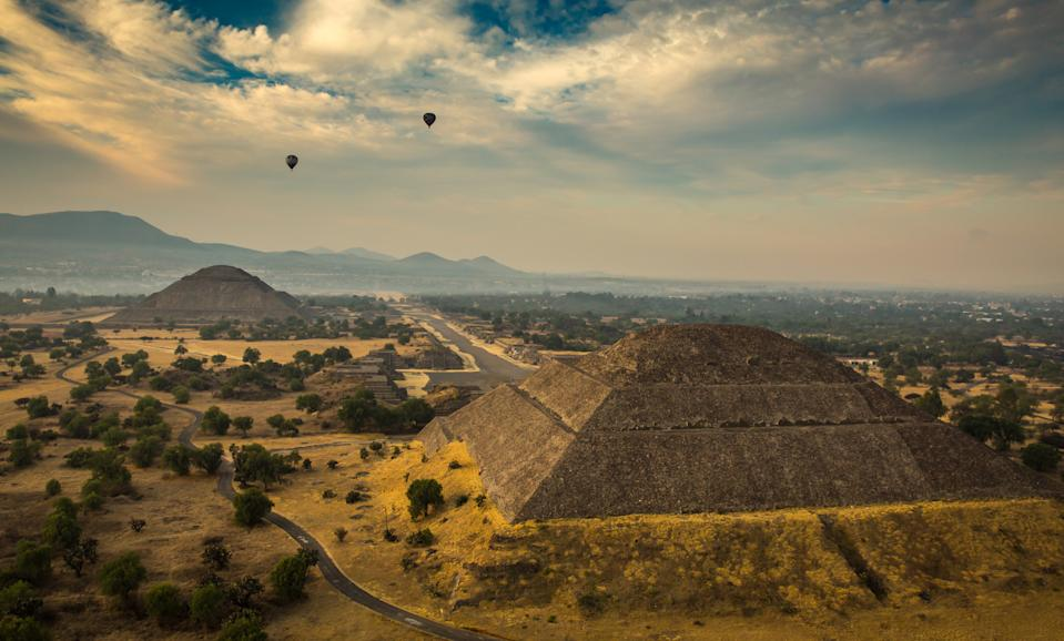 The ancient Mayan pyramid of the sun at Teotihuacan, Mexico