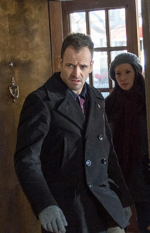 """The Deductionist"" - Sherlock (Jonny Lee Miller) and Watson (Lucy Liu) pursue Martin Ennis, an unpredictable criminal, before he strikes again, on ""Elementary,"" on a special night, immediately following the Super Bowl on Sunday, Feb. 3 on CBS."