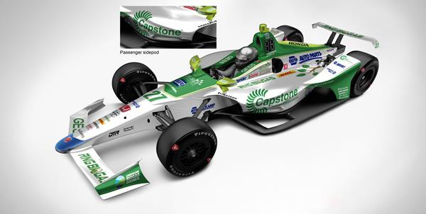 Andretti Autosport Capstone Turbine No. 27 Racing Machine :GESS International and Capstone Turbine Corporation sponsor the Andretti Autosport No. 27 Alexander Rossi IndyCar