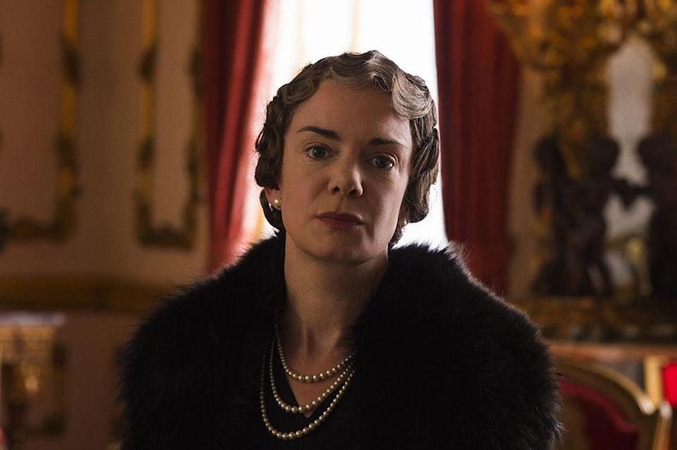 <p>The Queen Mother was played by Vitoria Hamilton for seasons 1 and 2. In the first series, Queen Elizabeth is widowed at the age of 51 and watches as her daughter becomes Queen Elizabeth II.</p>