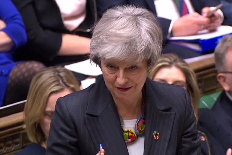 Theresa May wants more time for talks with EU officials on a Brexit deal (AFP Photo/HO)