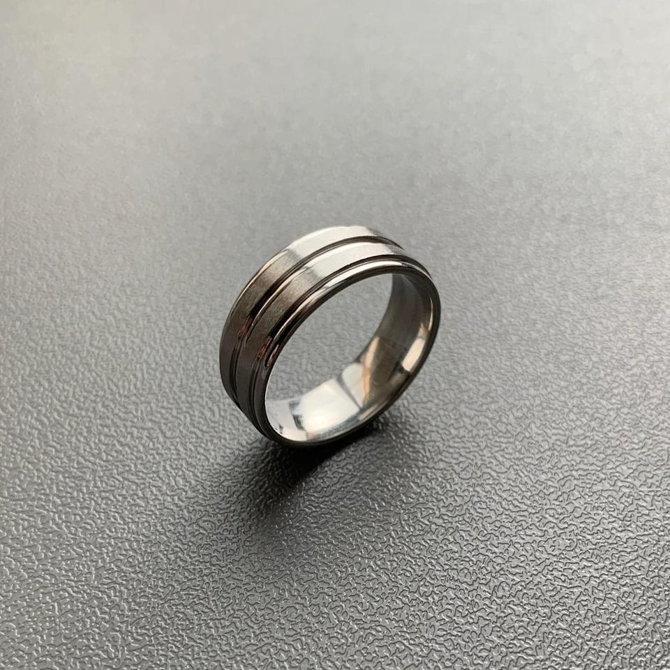 <p>They can represent their favorite show in the most minimalist way with <span> Dean Winchester's Steel Ring</span> ($16). It comes with a black waxed cord so they can wear it as a necklace as well.</p>
