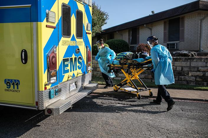 Image: Texas EMS First Responders Face Higher Caseload Amid COVID-19 Pandemic (John Moore / Getty Images file)