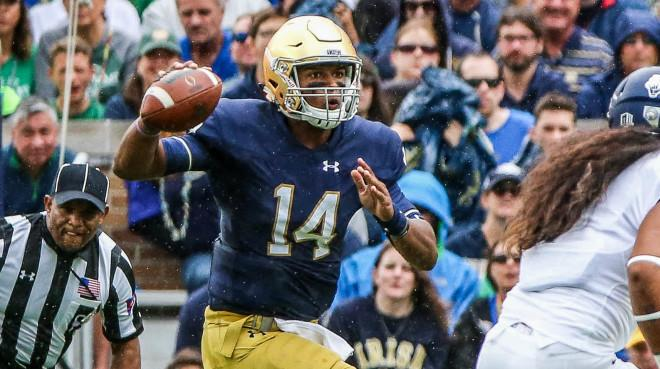 The Fighting Irish QB will be a much-watched figure at the event in Indianapolis from Feb. 28-March 6.