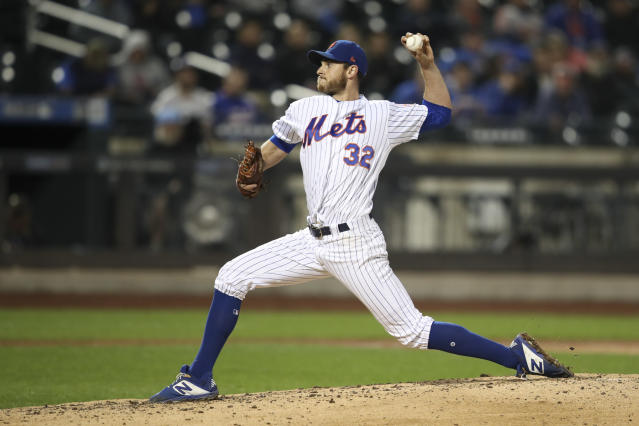 New York Mets starting pitcher Steven Matz delivers against the Philadelphia Phillies during the fifth inning of a baseball game Friday, Sept. 6, 2019, in New York. (AP Photo/Mary Altaffer)