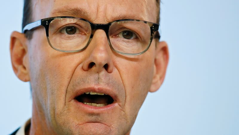 FILE PHOTO: German media group Bertelsmann CEO Rabe attends the annual news conference in Berlin