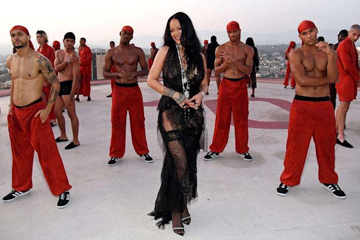 Rihanna in the closing scene of the show.