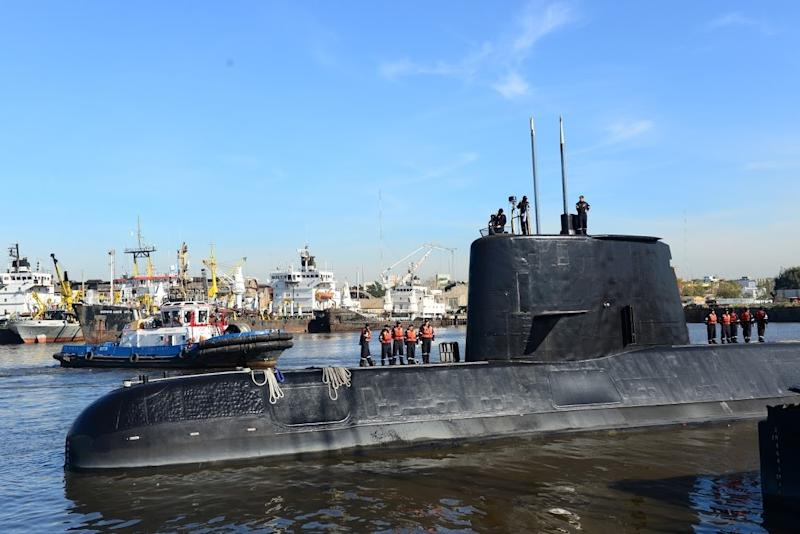 The ARA San Juan, shown here in an Argentine navy handout photo, when missing in the South Atlantic in November 2017 with 44 people aboard (AFP Photo/Handout)