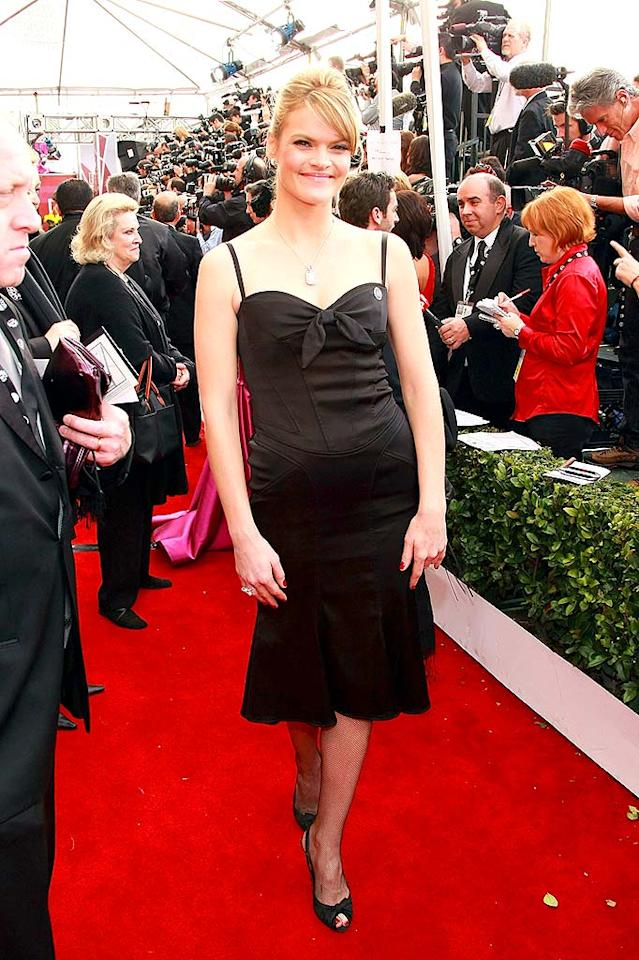 """Can Missi Pyle play it any safer in her black dress? Even her sweetheart neckline is unremarkable! Dimitri Kambouris/<a href=""""http://www.wireimage.com"""" target=""""new"""">WireImage.com</a> - January 27, 2008"""