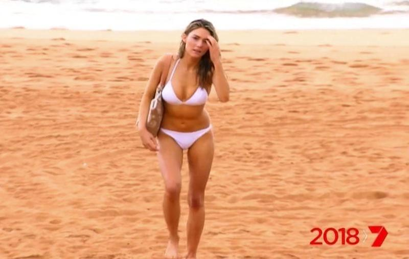 The former Bachelorette, who made her debut on the Channel Seven soap during last year's finale week, is seen turning up the heat in the show's new promo. Source: Channel Seven