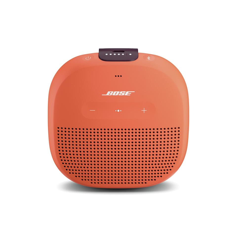 "The musichead won't believe how powerful this little speaker is, especially considering it's only slightly larger than an iPhone. $99, Nordstrom. <a href=""https://www.nordstrom.com/s/bose-soundlink-micro-bluetooth-speaker/4722057"" rel=""nofollow noopener"" target=""_blank"" data-ylk=""slk:Get it now!"" class=""link rapid-noclick-resp"">Get it now!</a>"