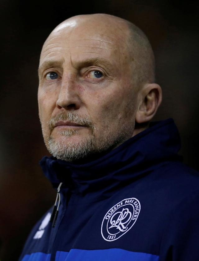 "Soccer Football - Championship - Sheffield United vs Queens Park Rangers - Bramall Lane, Sheffield, Britain - February 20, 2018 Queens Park Rangers manager Ian Holloway Action Images/Ed Sykes EDITORIAL USE ONLY. No use with unauthorized audio, video, data, fixture lists, club/league logos or ""live"" services. Online in-match use limited to 75 images, no video emulation. No use in betting, games or single club/league/player publications. Please contact your account representative for further details."