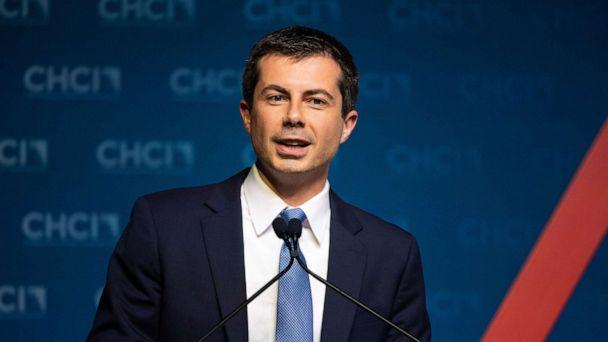 PHOTO: Mayor Pete Buttigieg speaking at the Congressional Hispanic Caucus Institute Presidential Campaign Forum, Sept. 10, 2019. (Michael Brochstein/Sipa USA/Newscom)