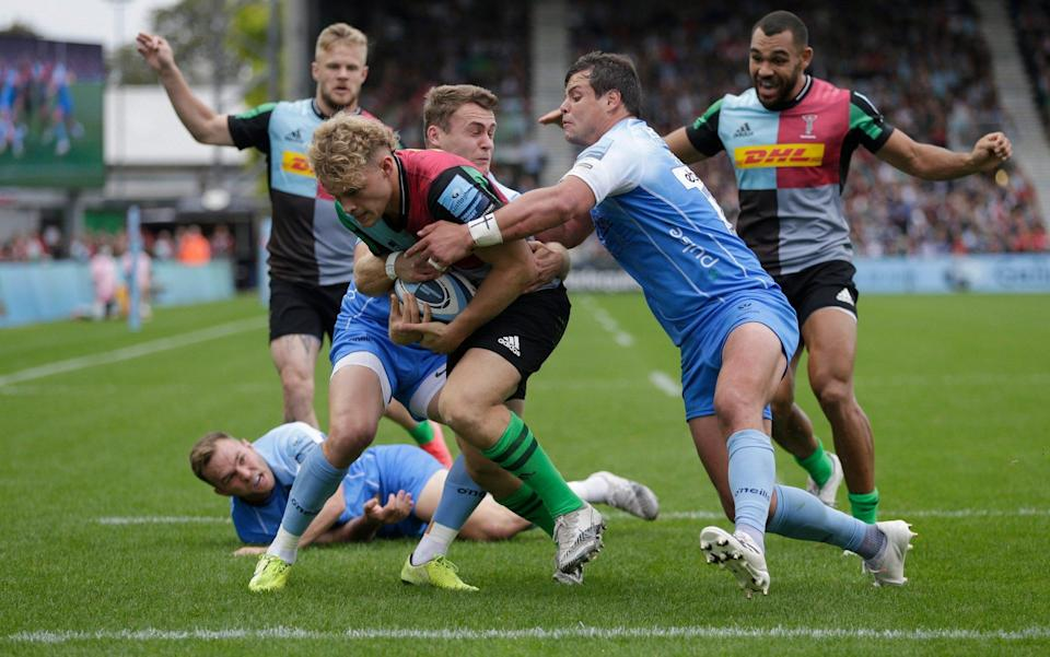 Louis Lynagh scored Quins' first try - Getty Images
