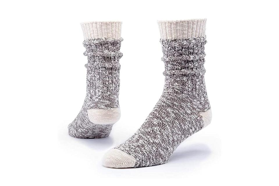 "$12, Amazon. <a href=""https://www.amazon.com/MAGGIES-Cotton-Ragg-Sock-Chestnut/dp/B07BRPQNPC/ref=sr_1_3?dchild=1&keywords=maggie%27s%2Borganics&qid=1600448203&s=apparel&sr=1-3&th=1&psc=1"" rel=""nofollow noopener"" target=""_blank"" data-ylk=""slk:Get it now!"" class=""link rapid-noclick-resp"">Get it now!</a>"