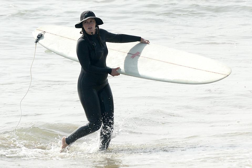 <p>Leighton Meester was seen enjoying a day of surfing in Malibu, California.</p>