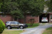 Outside view of Phillip Adams' home, following fatal shooting in Rock Hill, South Carolina