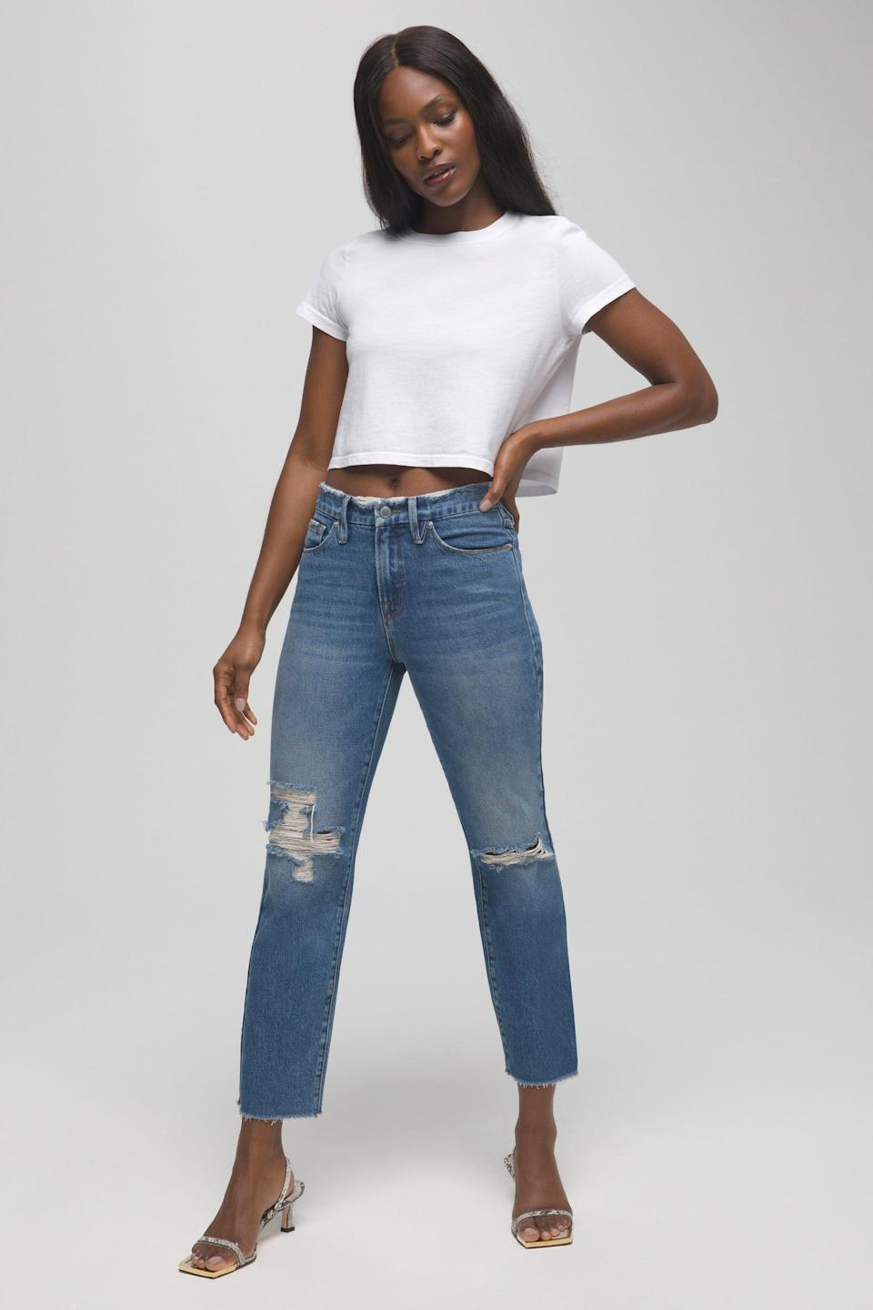 <p>Wear these cool <span>Good American Good Vintage Jeans</span> ($175) with a plain tee or cozy sweater.</p>