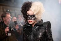 """<p>Go wild with a <a href=""""https://www.popsugar.com/beauty/cruella-halloween-hair-makeup-48477651"""" class=""""link rapid-noclick-resp"""" rel=""""nofollow noopener"""" target=""""_blank"""" data-ylk=""""slk:Cruella look this Halloween""""><strong>Cruella</strong> look this Halloween</a>. Sure, you'll need a little temporary black hair color as well to get the two-toned look but once you're set, you'll be a force to be reckoned with.</p>"""