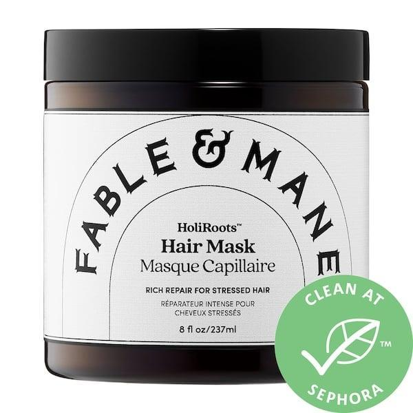 <p>The <span>Fable &amp; Mane HoliRoots Repairing Hair Mask</span> ($32) is an amazing deep conditioner to combat winter dryness.</p>