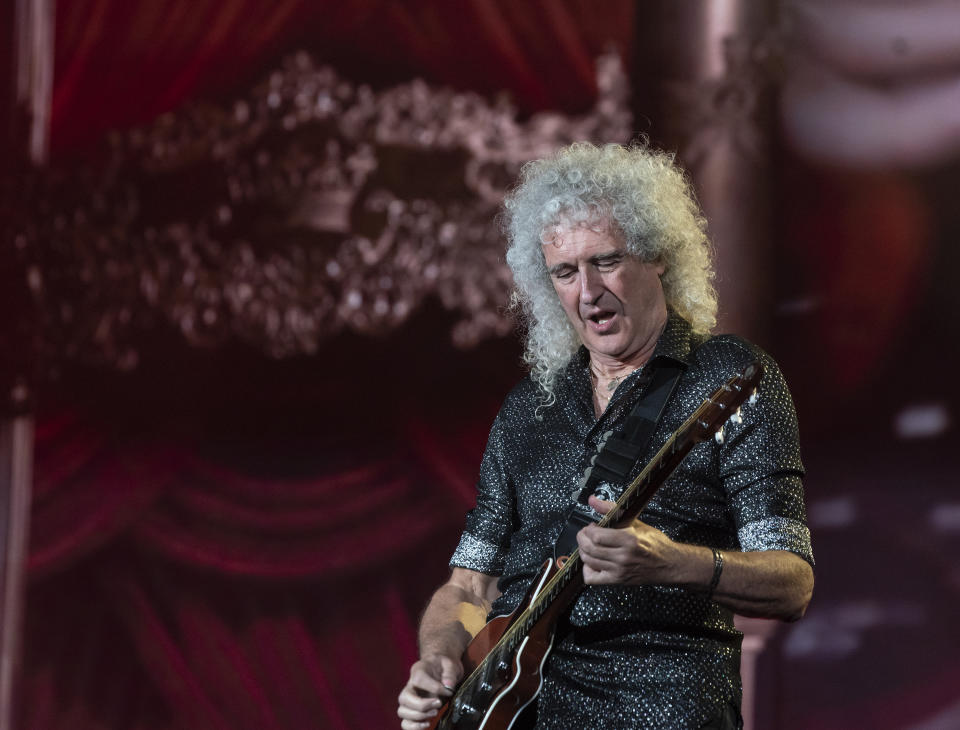 Brian May of Queen performs on stage during 2019 Global Citizen Festival at Central Park (Photo by Lev Radin / Pacific Press/Sipa USA)