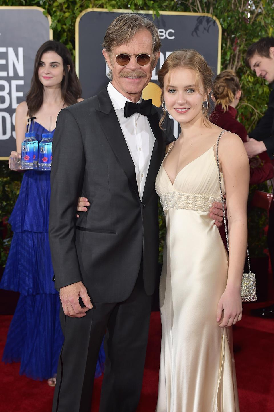 William H. Macy and Sophia Macy at the 2019 Golden Globes. (Photo: Getty Images)