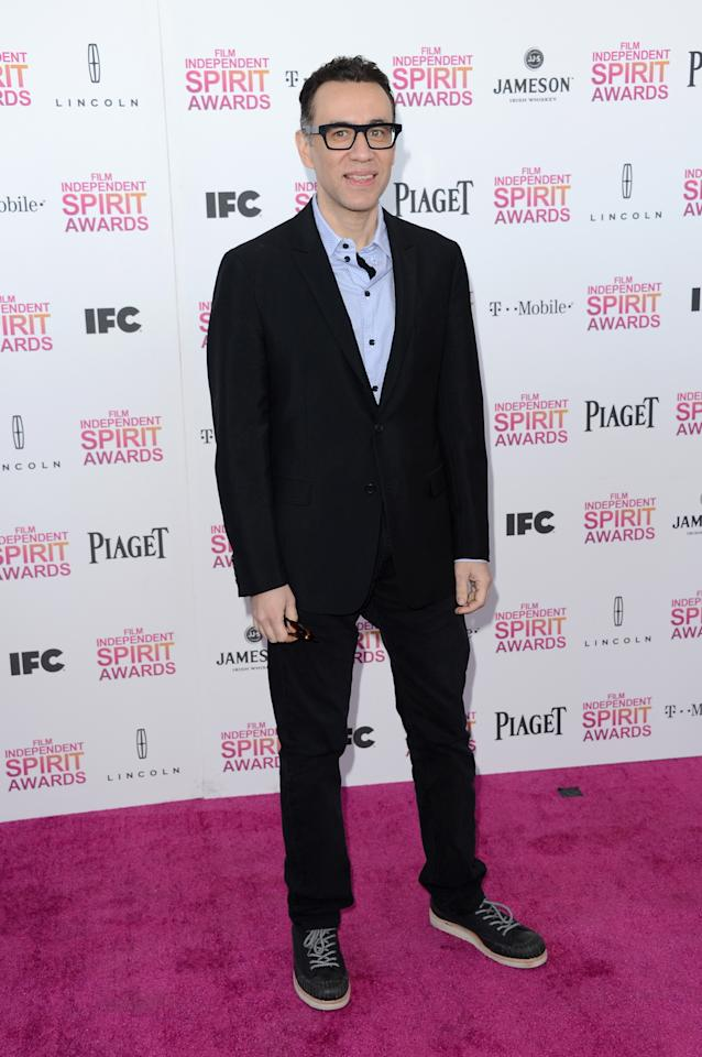 SANTA MONICA, CA - FEBRUARY 23:  Actor Fred Armisen attends the 2013 Film Independent Spirit Awards at Santa Monica Beach on February 23, 2013 in Santa Monica, California.  (Photo by Jason Merritt/Getty Images)
