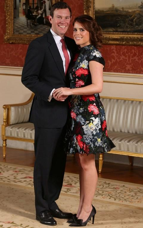 Princess Eugenie and Jack Brooksbank pose in the Picture Gallery - Credit: Jonathan Brady/Reuters