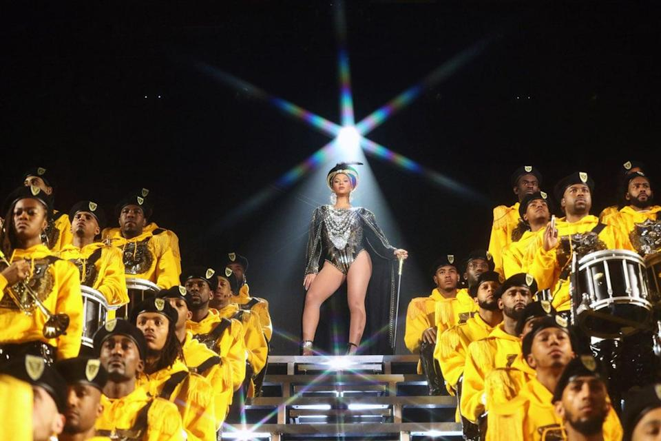 """<p>This documentary shines a spotlight on the entire creative process behind Queen Bey's 2018 Coachella performance, bringing her creative work to new light.</p> <p><a href=""""http://www.netflix.com/title/81013626"""" class=""""link rapid-noclick-resp"""" rel=""""nofollow noopener"""" target=""""_blank"""" data-ylk=""""slk:Watch Homecoming: A Film by Beyoncé on Netflix"""">Watch <strong>Homecoming: A Film by Beyoncé</strong> on Netflix</a>.</p>"""