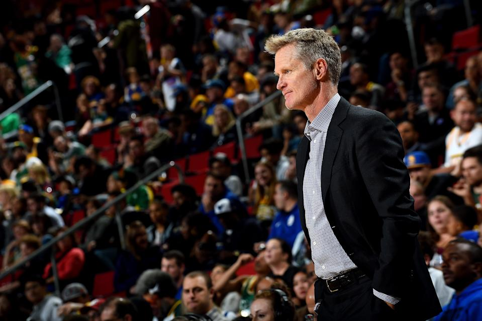 Steve Kerr isn't afraid to voice his opinion about political matters. (Getty Images)