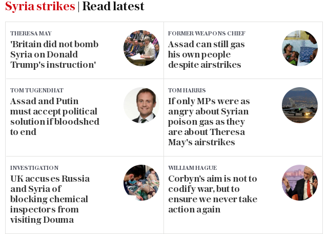 Syria strikes | Read latest