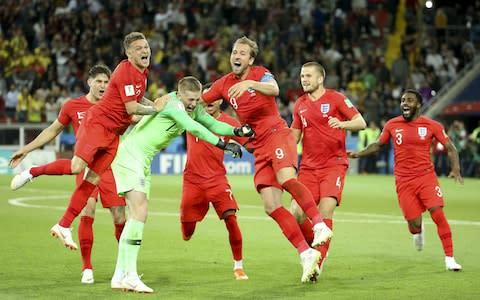 <span>England beat Colombia on penalties at the World Cup in 2018</span> <span>Credit: Getty images </span>