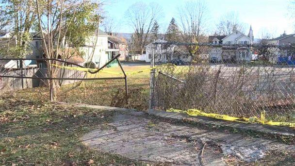PHOTO: Authorities are investigating after a newborn baby was found dead, Nov. 12, 2019, along a walking path in a wooded area in Port Jervis, N.Y. (WABC)