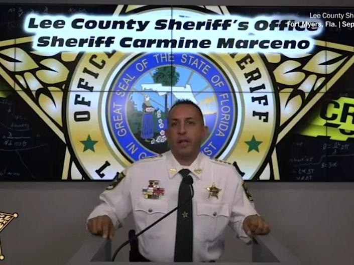 Lee County Sheriff Carmine Marceno during a press conference last week  (Lee County Sheriff's Office)