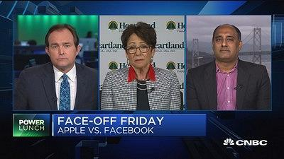 Nancy Tengler, Heartland Financial CIO, and Amit Daryanani, RBC Capital Markets hardware analyst, debate whether Apple or Facebook is a better bet for investors.