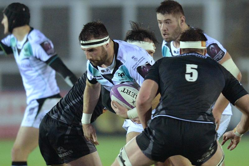 Big game hunter: Ospreys and Wales hooker Scott Baldwin feared he could lose his hand after being bitten by a lion while on tour in South Africa: Getty Images