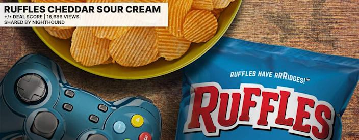 Ruffles Sour cream Cheese Price Mistake Inbody controller and bowl on table
